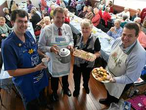 PHOTOS: Big crowd gathers for morning tea against cancer