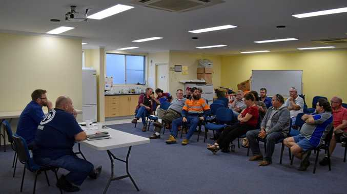 Workers met on Tuesday and Wednesday to discuss options in the wake of Aurizon's decision to cut 29 jobs from the Mackay region.
