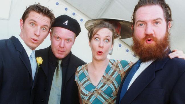Rove McManus, Peter Helliar, Corinne Grant and Dave Callan in 2000.