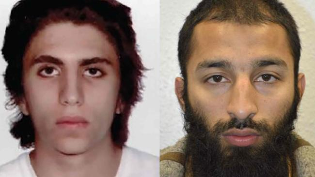 London Bridge attackers Italian national Youssef Zaghba, 22, left, and Pakistan born Brit Khuram Shazad Butt, 27.