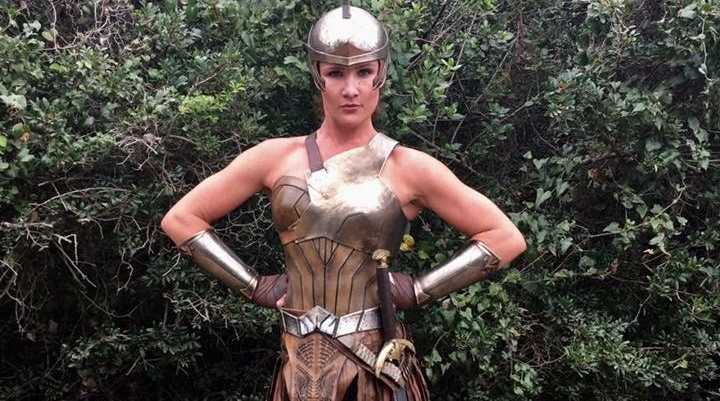 WONDER WOMAN: Buderim woman Erin Bostock played an Amazonian woman in the blockbuster Hollywood film Wonder Woman.