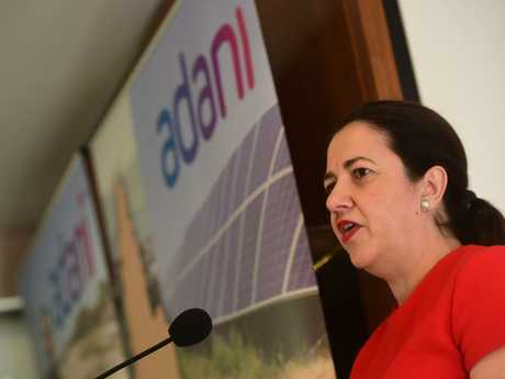 Queensland Premier Annastacia Palaszczuk has backed the project, largely for its job creation.Source:News Corp Australia