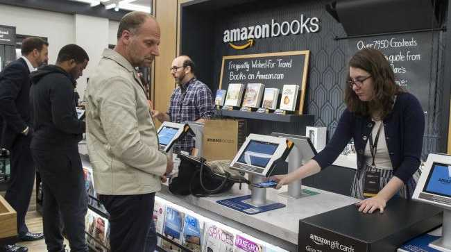 In late May, it opened its first physical Amazon Books store in New York — its seventh in the US. Picture: AP Photo/Mary AltafferSource:AP
