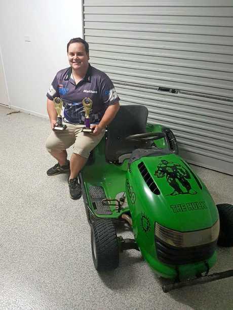 Rockhampton mower racer Nathan Smith.