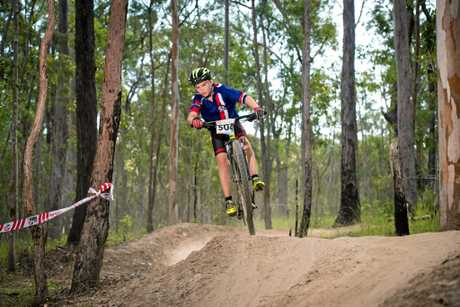 Lachlan Fraser scales the technical track at nationals.