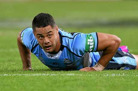Jarryd Hayne during Game 1 of the State of Origin series at Suncorp Stadium in Brisbane