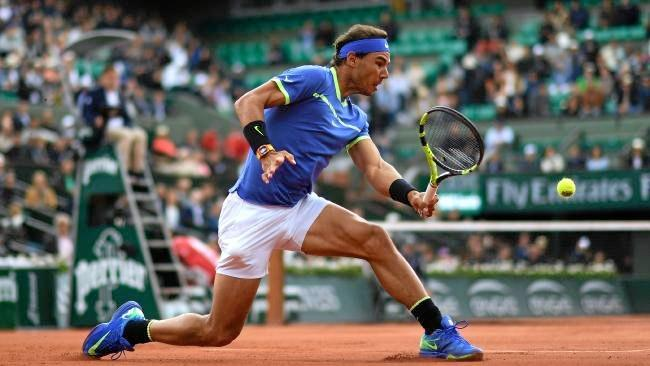 Nadal in action at Roland Garros. Photo: AP