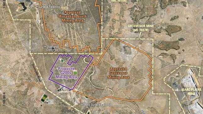 The proposed G200s mining area for Anglo American.