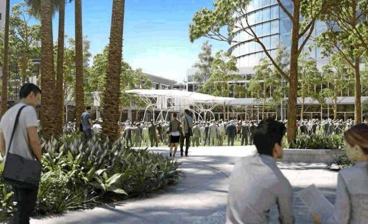 PLANS: Vision of the future CBD urban square.