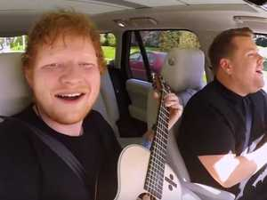 Ed Sheeran does carpool karaoke