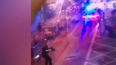 The moment the London attackers are shot dead by police.