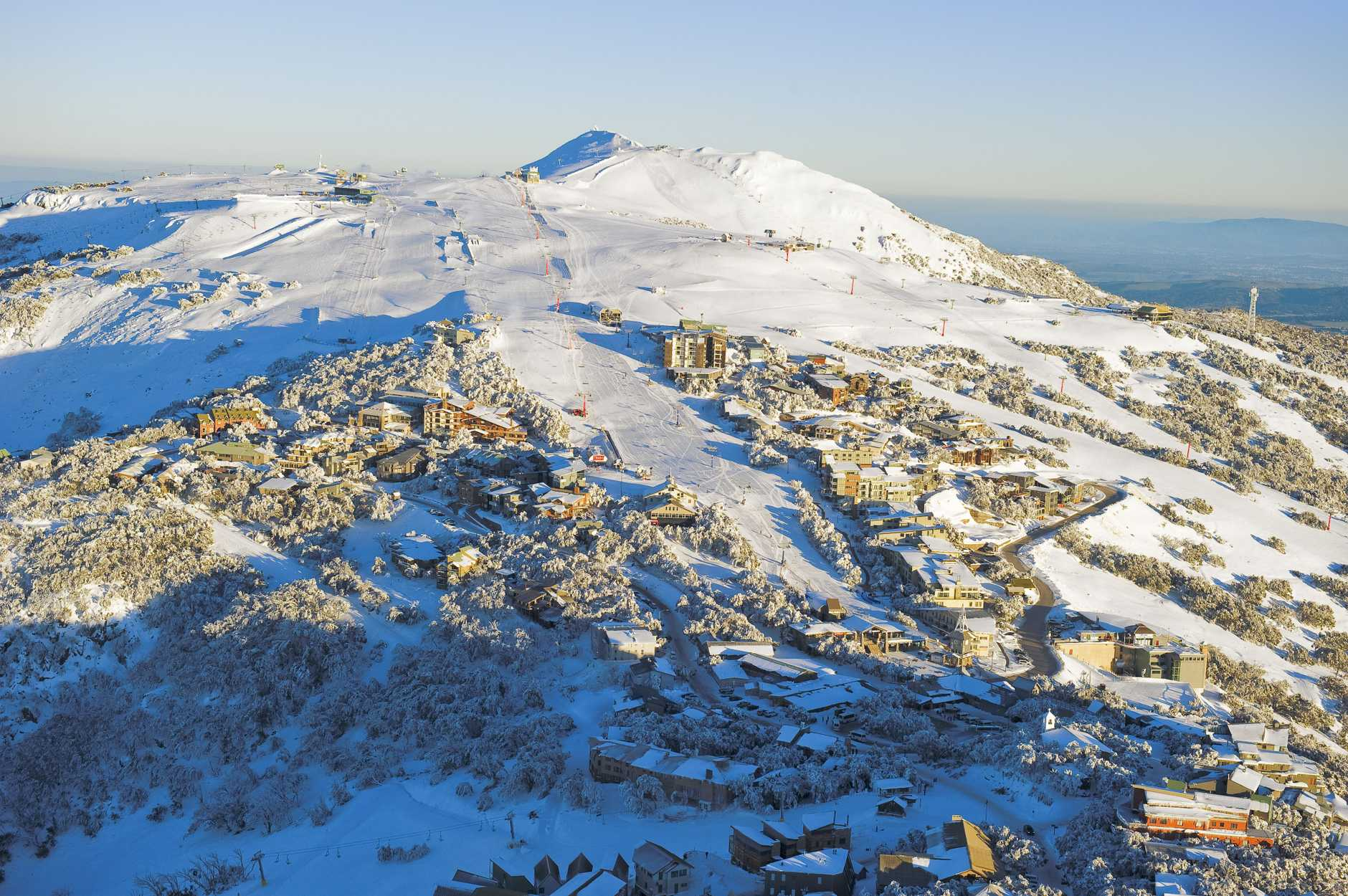 A skiers dream: A beautiful day on Mount Buller. Credit: Andrew Railton.