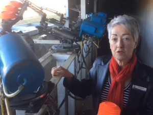 Mayor Tracy Dobie checks out the Olympic trap range