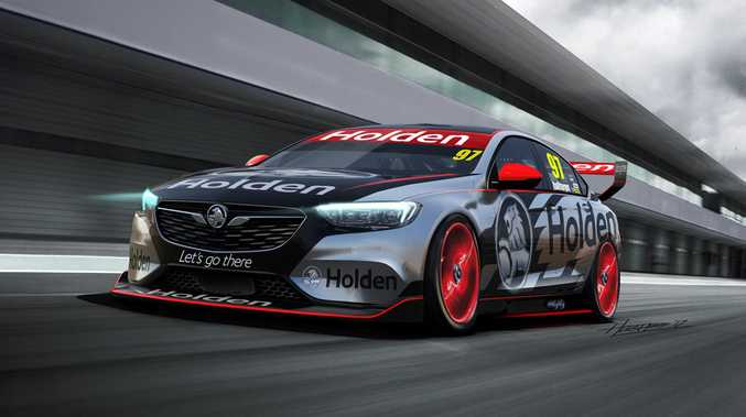 RACE READY: The 2018 Holden Commodore road car may only have a four- or six-cylinder but the Supercars Championship version will score the current V8 for the 2018 season.