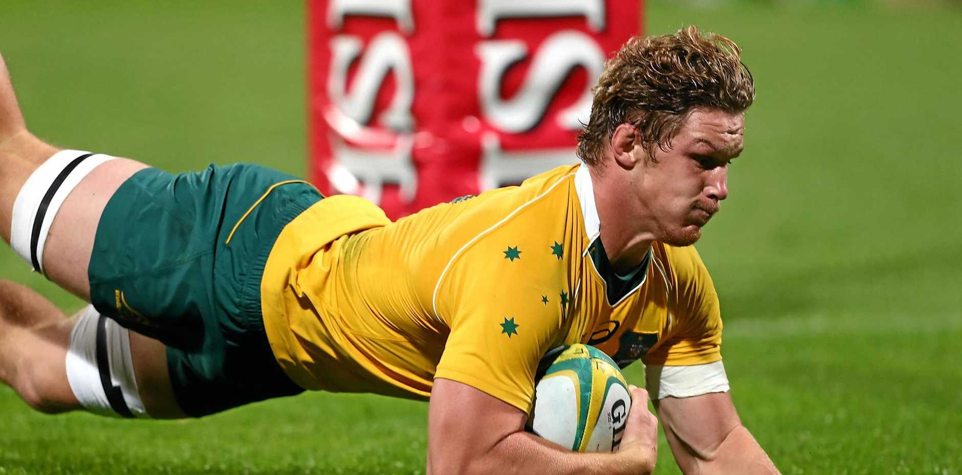 ADDED RESPONSIBILITY: Michael Hooper will lead the Wallabies against Fiji tomorrow.