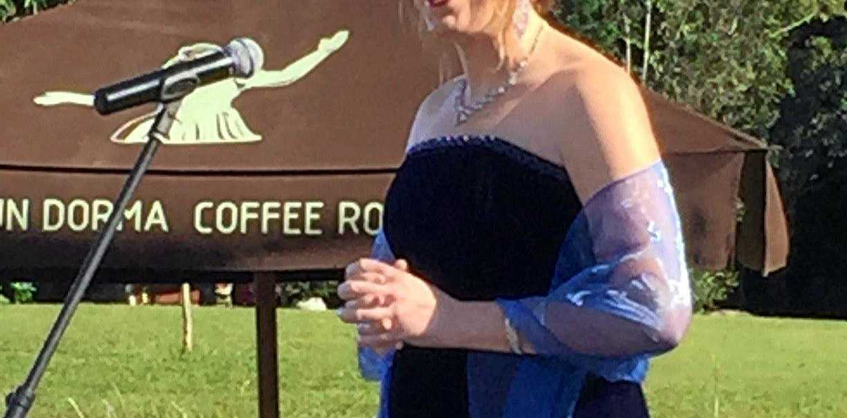 Rising opera star Julia Allsop entertained the crowd  with her ethereal voice.