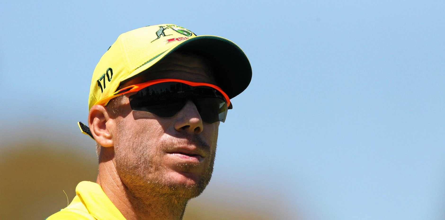 David Warner of Australia in the field during a one-day international against Pakistan at the WACA in January.