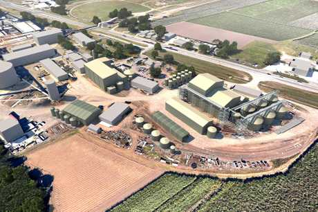 An artist's impression of the proposed bio-refinery plant at Mackay.