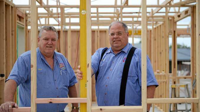 Scott Kilpatrick on a building site.