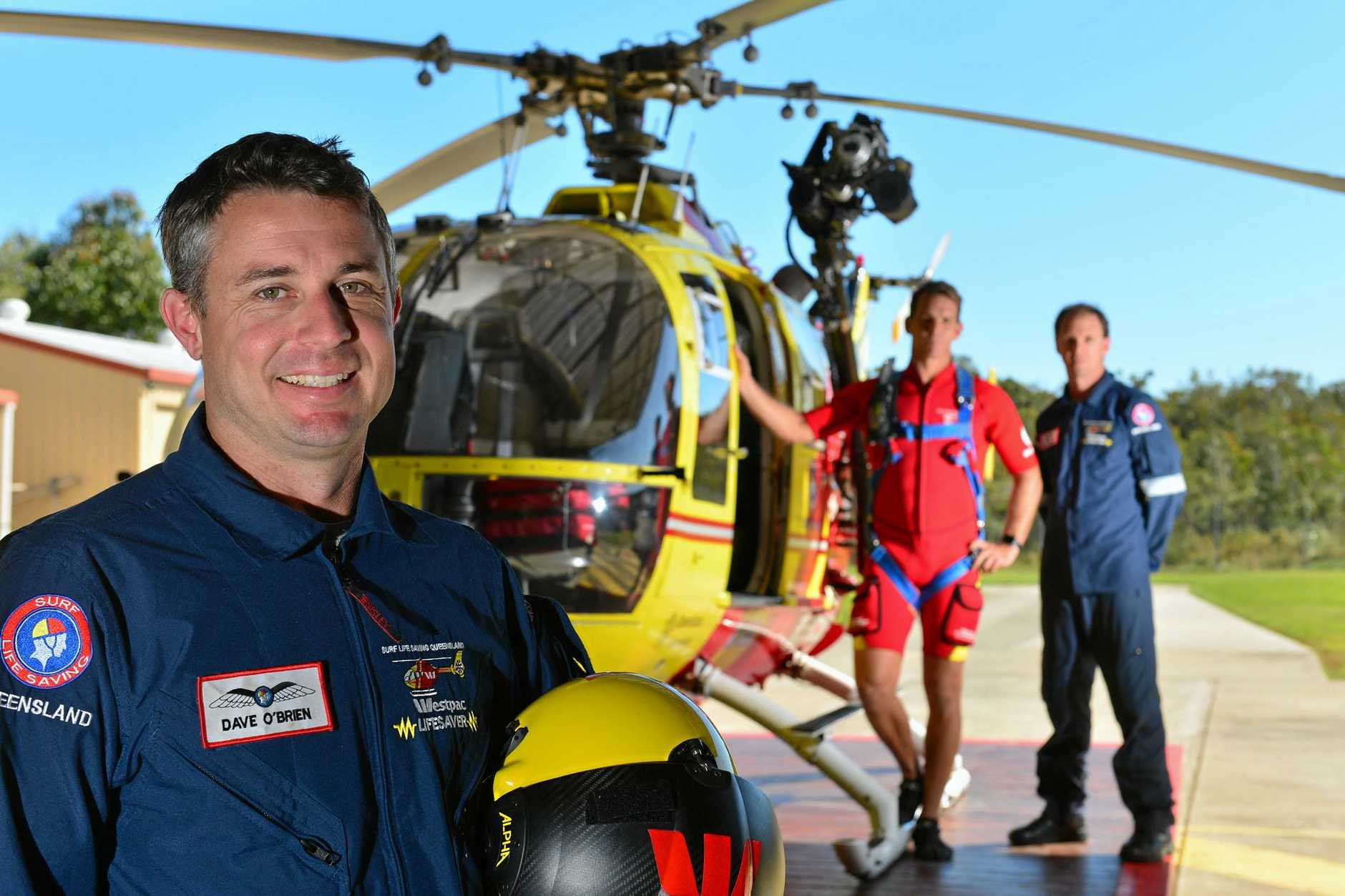 Westpac Lifesaver Rescue Helicopter Service will open the doors of its hangar on July 1 for the community to see its operations. Pilot David O'Brien with air crewman Brett Dorrington and rescue crewman Trent Robinson.