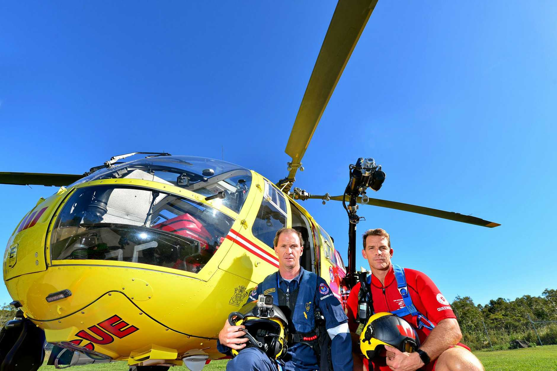 Westpac Lifesaver Rescue Helicopter Service will open the doors of its hangar on July 1 for the community to see its operations. Air crewman Brett Dorrington and rescue crewman Trent Robinson.