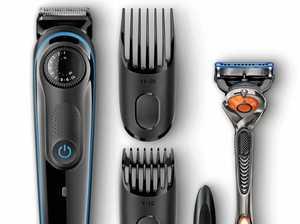 Easy to go bald testing a shaver
