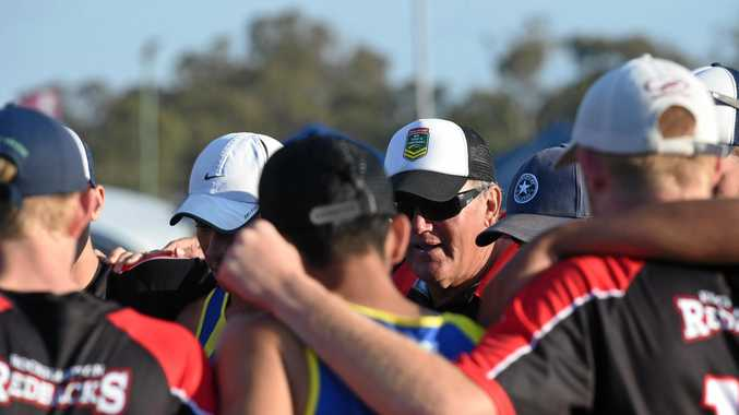 Rockhampton coach Gary Benbow. 16 Boys final: Rockhampton Red def Gold Coast. Queensland Touch Football's Junior State Cup at Hervey Bay.Photo Matthew McInerney  / Fraser Coast Chronicle