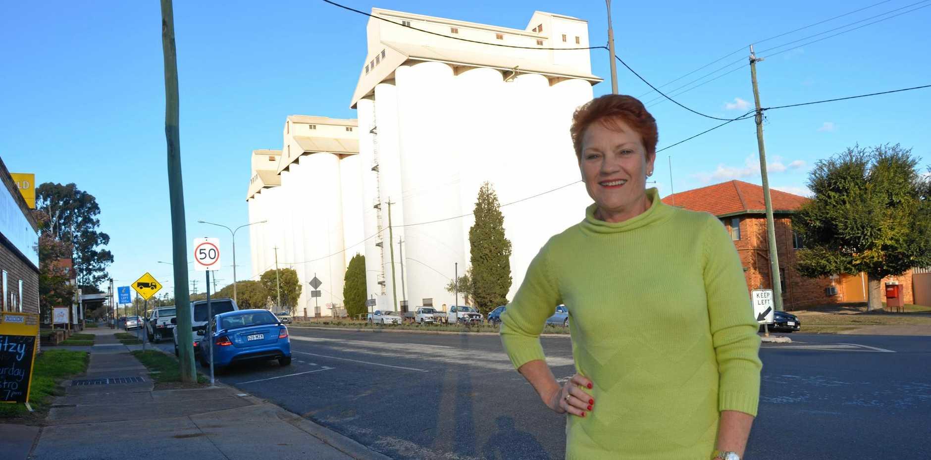 QUICK VISIT: One Nation Senator Pauline Hanson was in Kingaroy on June 9.