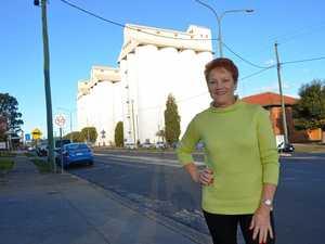 Pauline Hanson's whirlwind stopover in Kingaroy