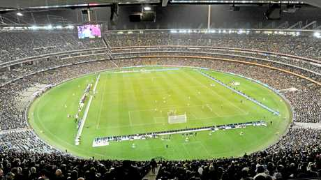 A total of 95,569 fans filled the MCG for the international friendly between Argentina and Brazil.