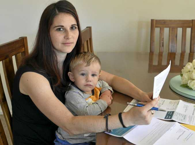 Laura Erbacher, pictured with son Jakob, has joined a new scheme to combat rising electricity costs.