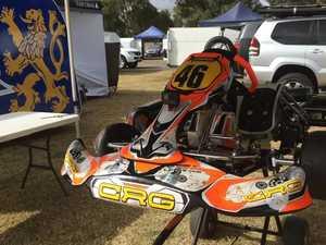 Karts compete at Sandy Creek.