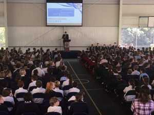 Teachers shock students with unexpected assembly interruption
