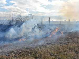 Ride-on mower sparks grass fire in Warwick
