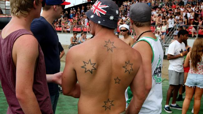 "Some tattoo artists refer to the Southern Cross as the ""Aussie Swazi"", referencing the SwastikaSource:News Limited"