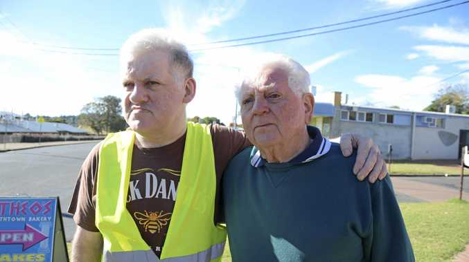NOT HAPPY: Tony Lanigan, right, is campaigning on behalf of his son Ian for the State Government to return the Taxi Concession Card, which were scrapped with the NDIS rollout.