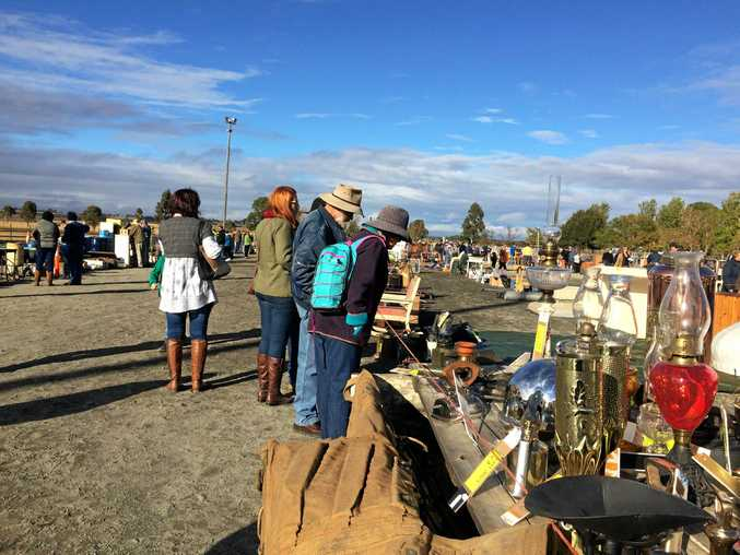 A large crowd is at the Allora Showgrounds this morning for the annual Allora Community Auction.