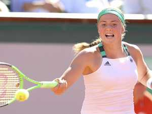 Fiery Latvian sets record in Roland Garros victory