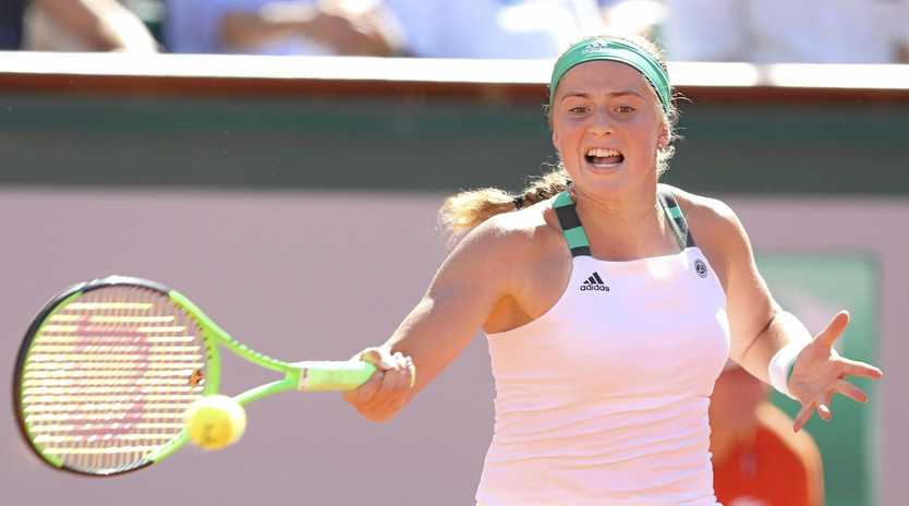 UNSEEDED CHAMPION: Latvia's Jelena Ostapenko is the youngest winner in French Open history after defeating Simona Halep 4-6, 6-4, 6-3 to claim the title.