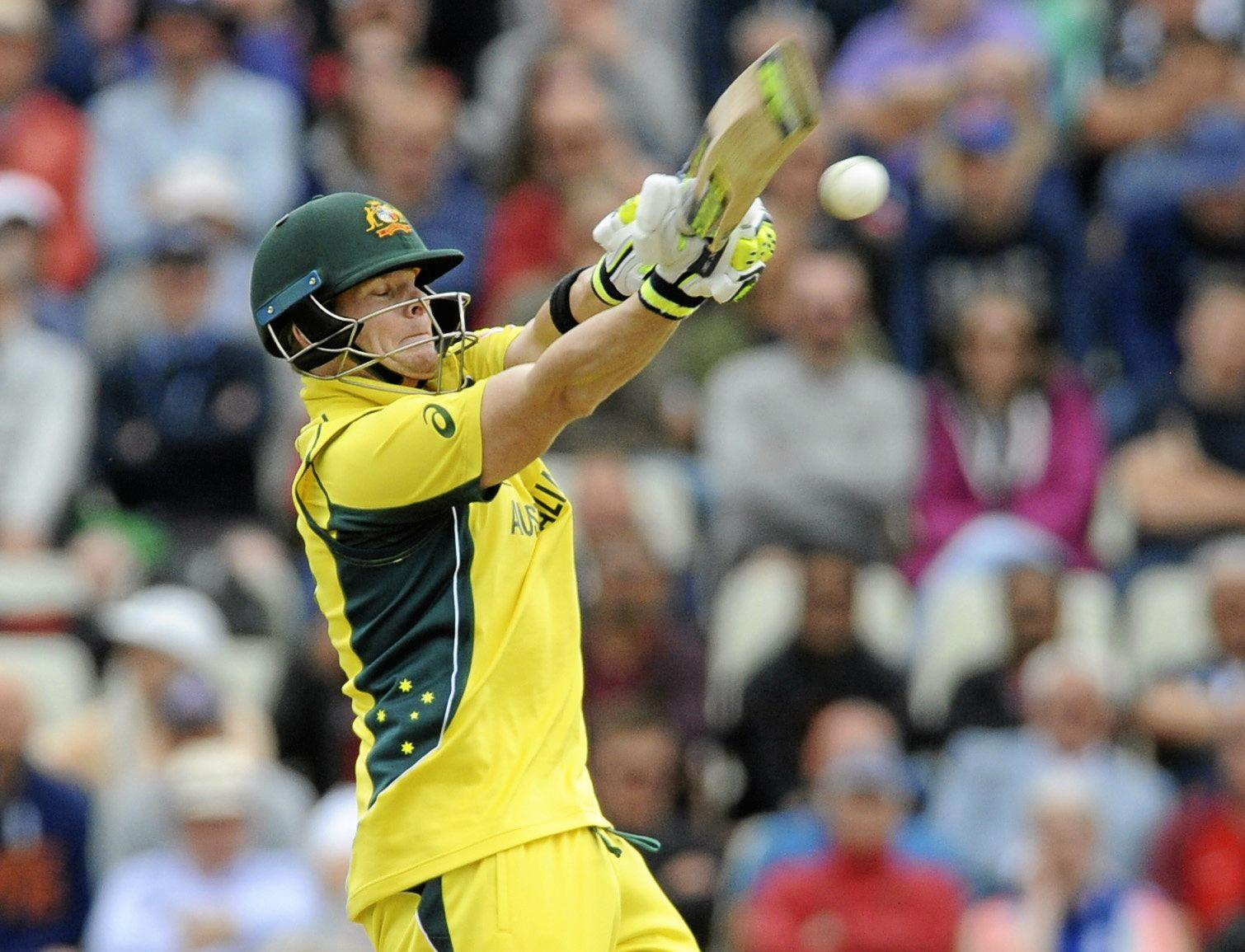 NOT ENOUGH: Australia captain Steve Smith scored 56 in his side's return of 9-277 against England but it was not enough to save Australia from an early Champions Trophy exit.