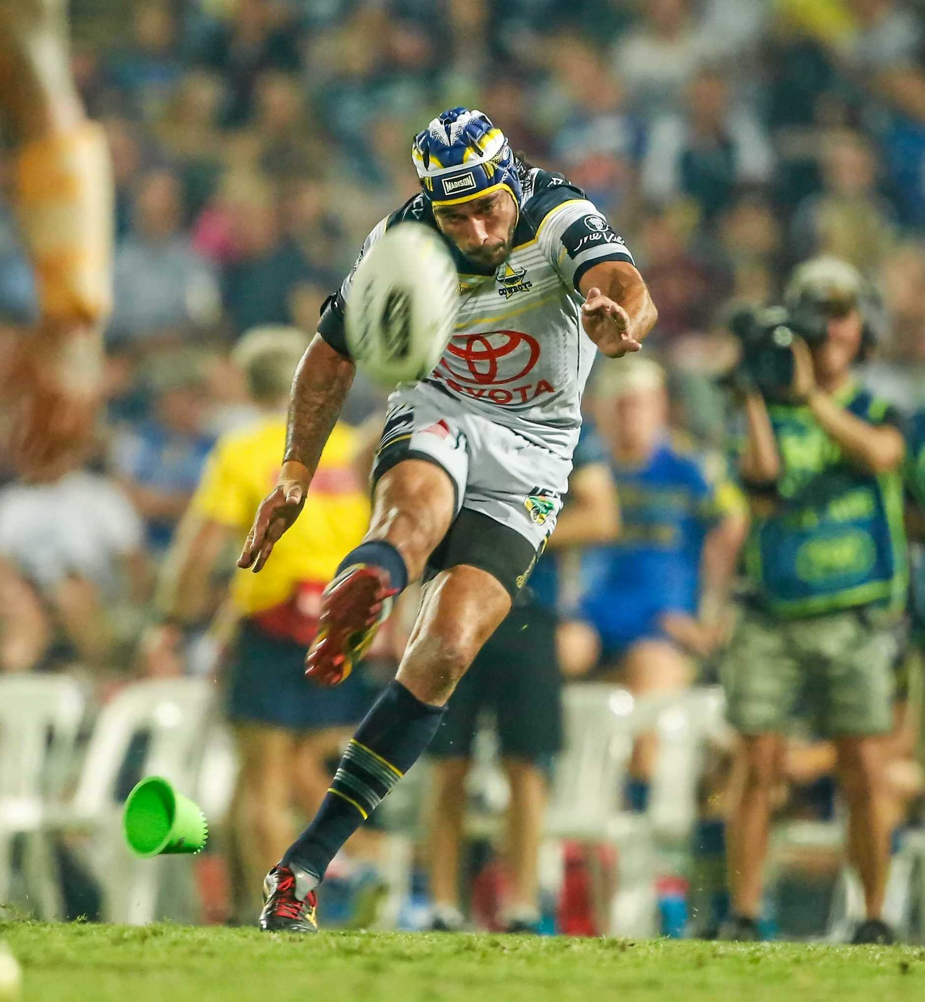 Johnathan Thurston put on an NRL master class in his return from injury for the North Queensland Cowboys.