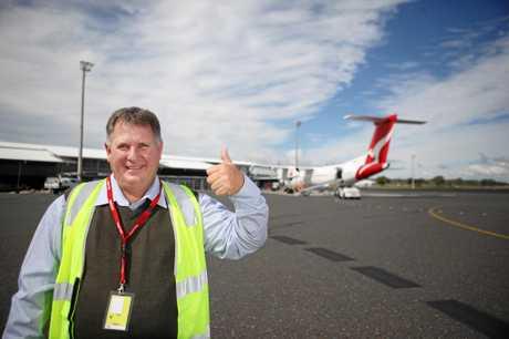 Cr Neil Fisher at Rockhampton Airport. Photo Allan Reinikka / The Morning Bulletin