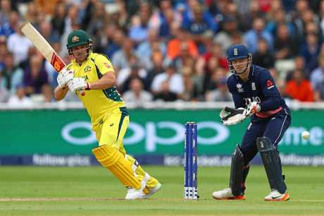 Aaron Finch stepped up with a half-century.