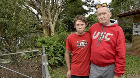 Shane Gundry and his 12-year-old son Treye were returning toToowoomba when they were held at gunpoint and had their car stolen from Pacific Fuels service station in Helidon. June 11, 2017