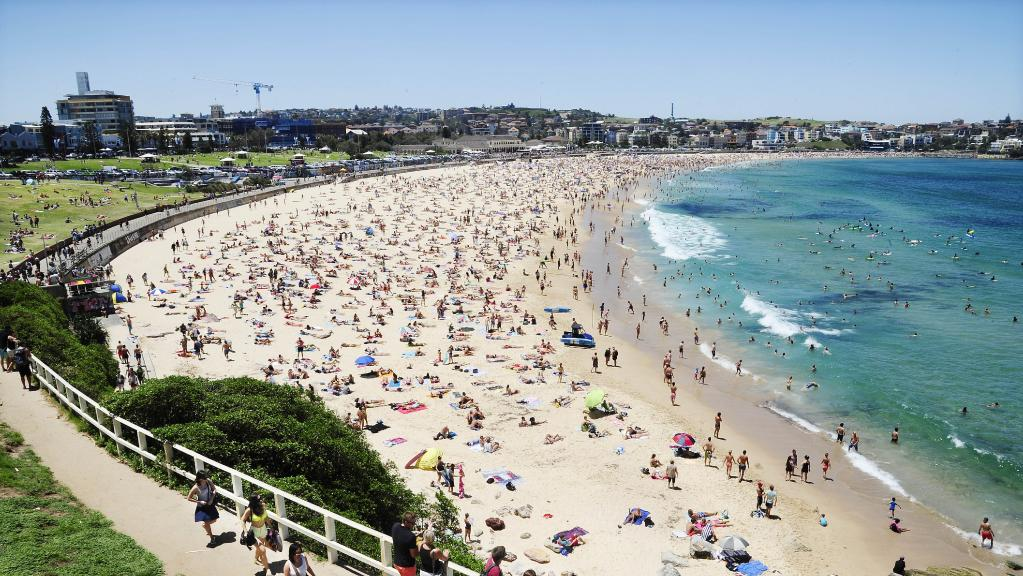 Legendary crescent-shaped belt of sand. It's Bondi.