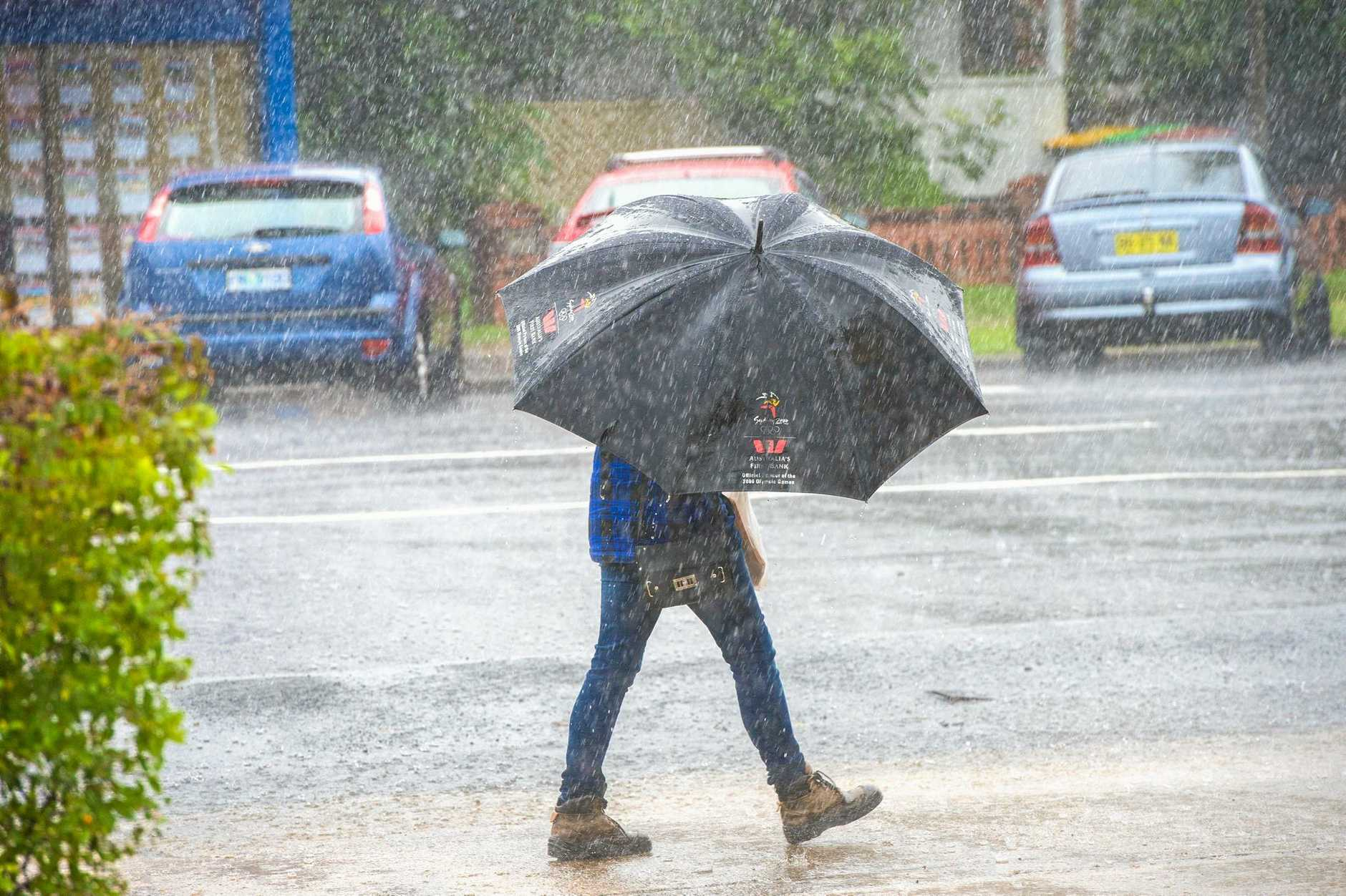MORE TO COME: Around 200mm of rain is forecast to fall across the Mid North Coast and northern Rivers over the next two days.