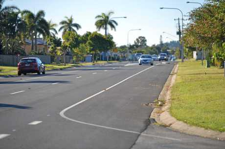 Glenella Richmond Rd, where the Mackay police officer was hit by a car last Wednesday night.