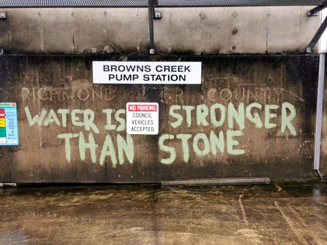 PUMPING: The Browns Creek flood pumps on the Wilsons River in Lismore were severely damaged during the March floods.