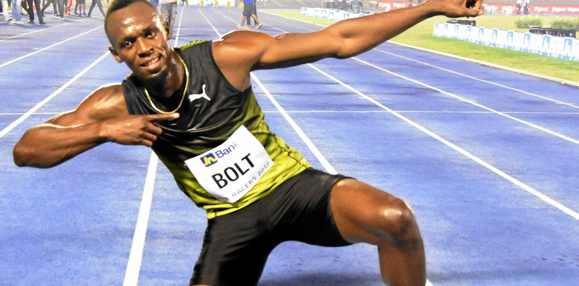 Usain Bolt after competing in Jamaica for the final time.
