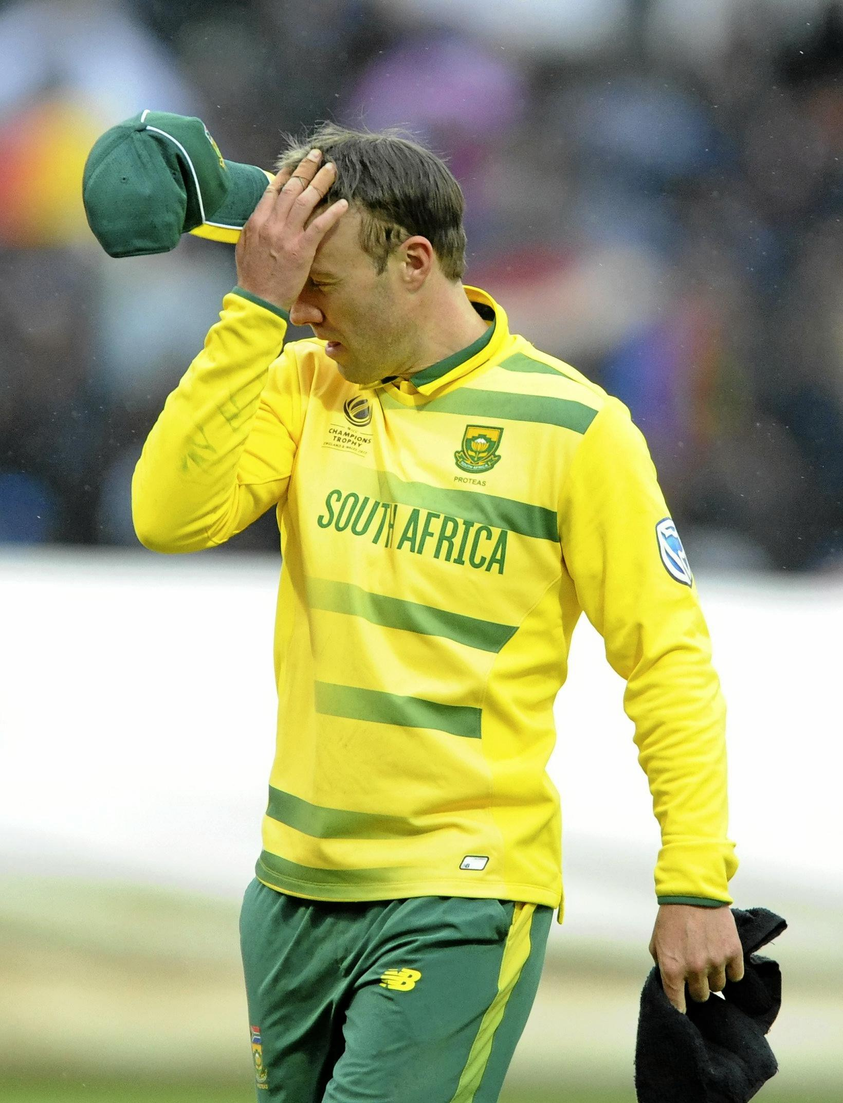 South Africa captain AB De Villiers was left ruing mistakes in the Champions Trophy.